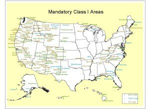Click image for list of 156 Class I areas.